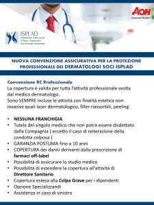 convenzione assicurativa isplad