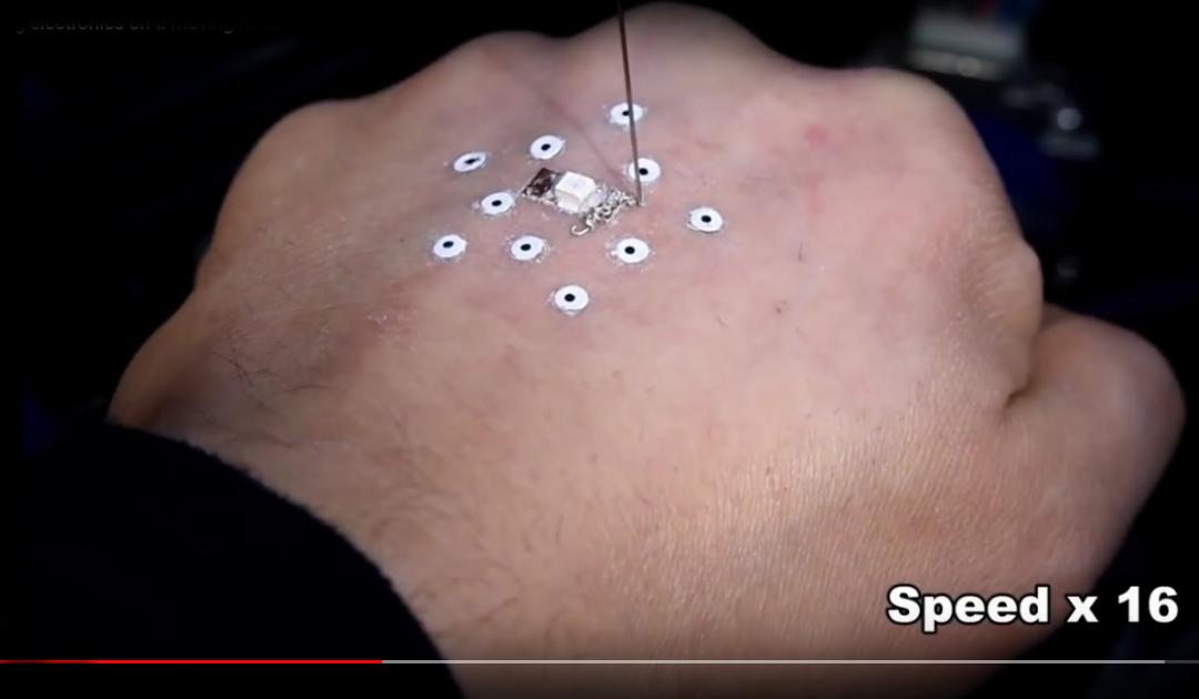 Stampa dispositivi elettronici sulla pelle