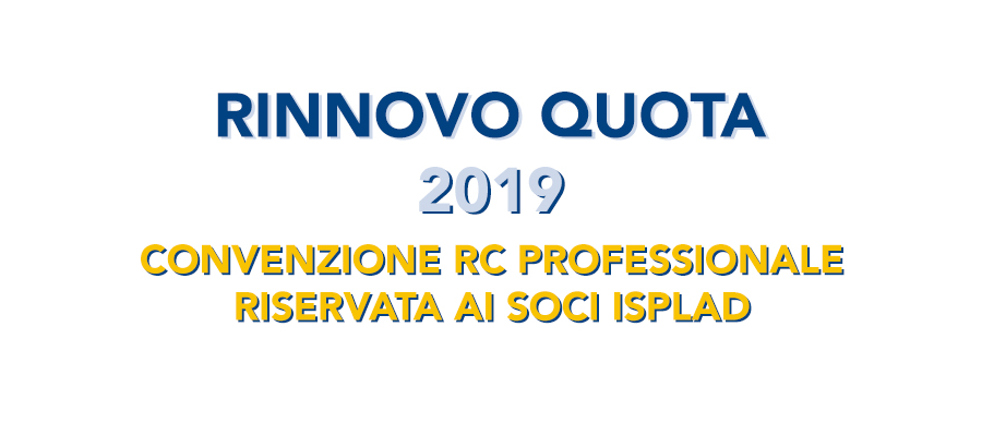 ISPLAD - Rinnovo quota 2019